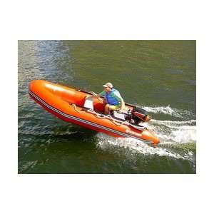 Saturn 13 SD385 Inflatable Sport Boat with Plywood floor.
