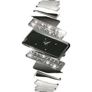 Seksy 4160 Ladies Electra Black Crystals Chrome Watch
