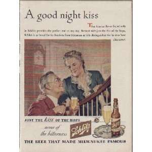 Good night kiss 1944 schlitz beer ad a0417a everything else