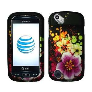 Flower Bubble Rubberized Coating Premium Snap on Protector