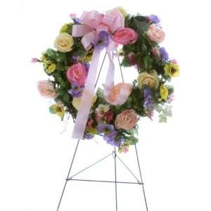 Silk Flower Bouquets on Handmade Memorial Cemetery Silk Flower Arrangement Bright Mixed Halo