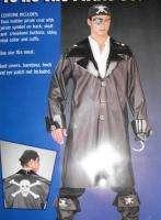 Costume Standard Size Mens NEW Skull Jacket Cuffs Cross Bones