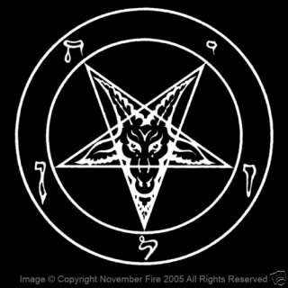 Classic Pentagram Shirt Occult Satan Metal Devil Sin