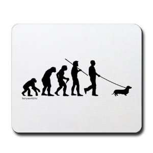 Dachshund Evolution Funny Mousepad by CafePress: Office