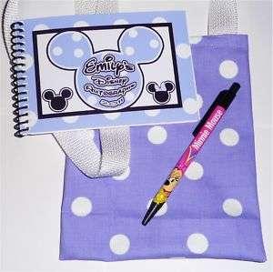 DISNEY Custom MINNIE Autograph Book/Bag/Pen PURPLE NEW