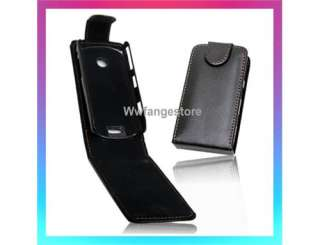 BLACK FLIP LEATHER CASE POUCH For SAMSUNG S5620 MONTE