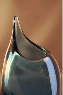 Blue/Green Glass Vase   Handmade in the Czech Republic