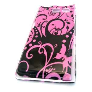 Sanyo Innuendo 6780 Pink Vine Abstract Design Hard Case Cover Skin