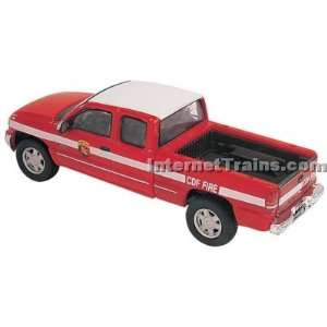 Boley HO Scale GMC Sierra Extended Cab Pickup   CDF/Red