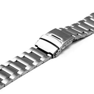 22mm New BRUNOFF Mens Gents Steel Watch Band New