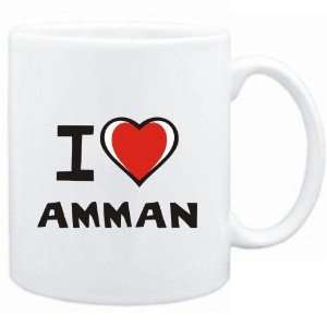 Mug White I love Amman  Capitals Sports & Outdoors