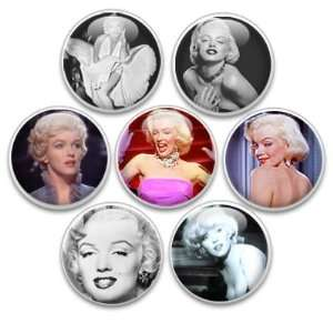 Decorative Push Pins or Magnets 7 Small Marilyn Monroe