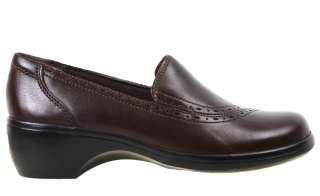 Clarks Womens Shoes 80737 Blueroyal Brown Leather Heels