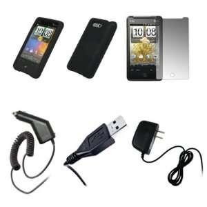 HTC Aria   Black Soft Silicone Gel Skin Cover Case