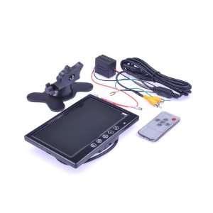 7 TFT LCD Car Rear View Monitor Headrest 16:9 Monitor DVD