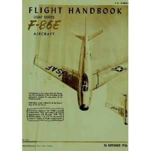 Aviation F 86 E Aircraft Flight Manual North American Aviation Books