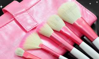 Brushes Eyeshadow Brusher Roll Up Pink Faux Leather Case NEW