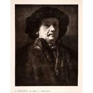 Dutch Painter Self Portrait 1655 Art   Original Photogravure Home