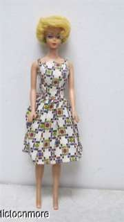 VINTAGE LEMON BLONDE BARBIE BUBBLECUT STRAIGHT LEG DOLL (R) BODY