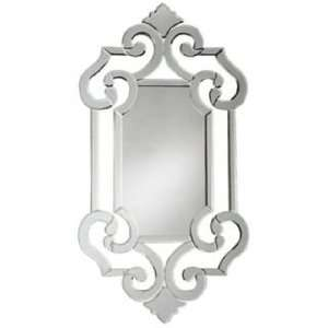 Venetian Style Wall Mirror with Fleur de Lis Accents
