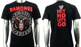 Ramones American Punk Metal Rock Band Men T shirt Sz L