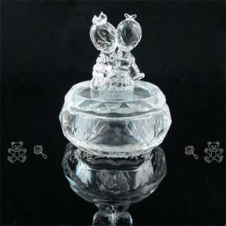PRECIOUS MOMENTS WEDDING CRYSTAL JEWELRY BOX PC4458