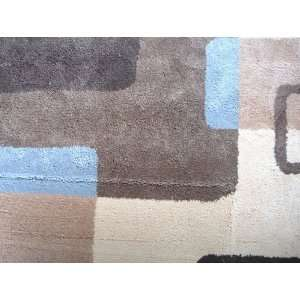Carpet Kako Beige Brown Wool 5x8 by Mobital   Beige Brown (Kako BB)