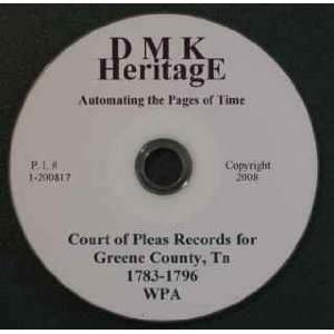 Greene County Tenn. Court of Pleas Records [CD ROM]