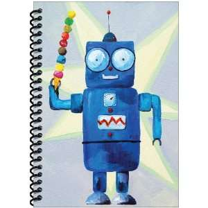 Rock Paper Spiral Notebook, Robot with Ice Cream (RP801
