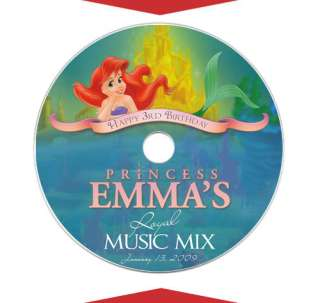 THE LITTLE MERMAID CD Labels Birthday Party Favors