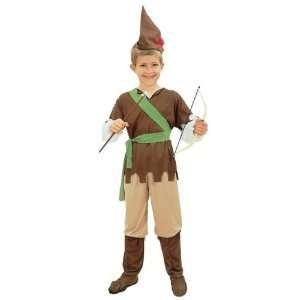 Robin Hood 4pc Childs Fancy Dress Costume   S 122cms Toys