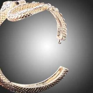 ARINNA Swarovski Crystal snake RGP cuff bangle Bracelet