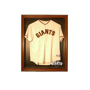 San Francisco Giants Cabinet Style Jersey Display   Brown