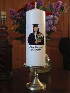 Personalized Custom School Graduation Candle Photo Gift