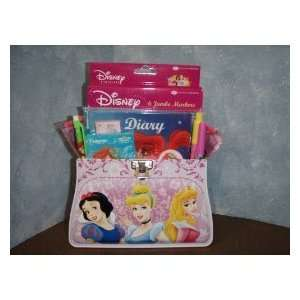 Disney Princess Tin with School Supplies Gift Basket