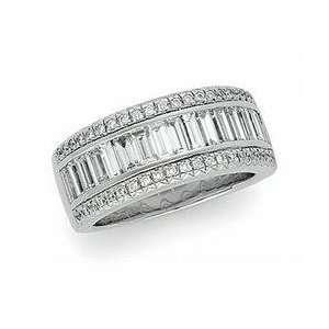 14k White Gold Diamond Bridal Band Ring