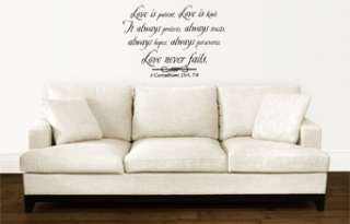 LOVE IS PATIENT GOD QUOTE VINYL WALL ART DECAL STICKER HOME DECOR