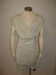 NWOT Wednesday Anthropologie Seafoam Blue Ruched Draped Wrap Dress Sz