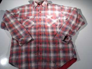 VTG JCPenny 70s Quilt Lined Shirt Jacket Mens L Large
