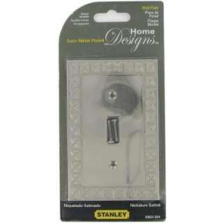 Stanley Pinnacle Single Switch Wall Plate Satin Nickel 033923803304