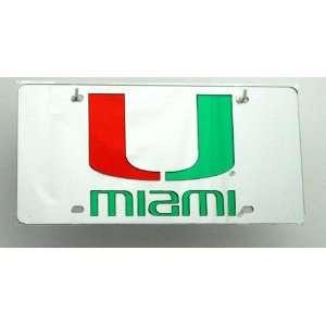 Miami Hurricans License Plate Automotive
