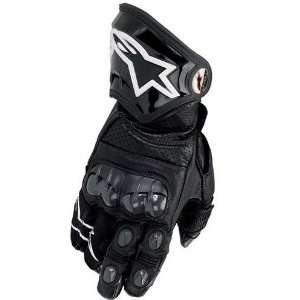 Mens Leather Sports Bike Racing Motorcycle Gloves   Black / X Large