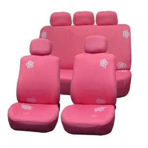 Car Seat Covers, Airbag Ready and Split Bnech, Pink Color Automotive