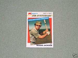 REGGIE JACKSON  K MART Card  #16  1987