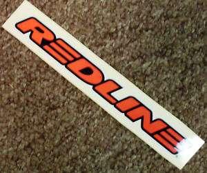 Red lined w/Black & WHite Redline Sticker 7.25 x1 inch