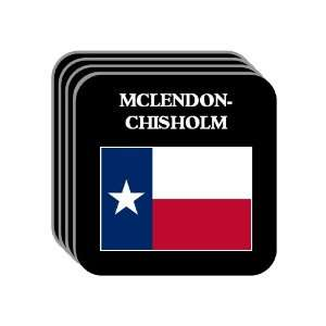 US State Flag   MCLENDON CHISHOLM, Texas (TX) Set of 4 Mini Mousepad