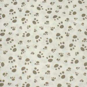 Puppy Dog Paw Print Cotton Quilt Fabric W63 c906