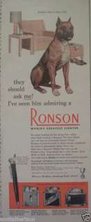 MILK BONE BOXER DOG FOOD RONSON VINTAGE 1951 PRINT ADS