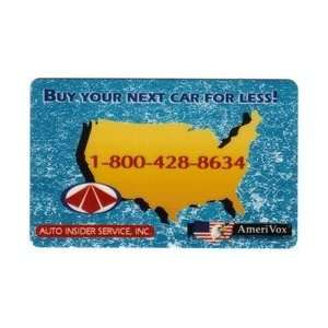 Collectible Phone Card Auto Insider Service, Inc. Buy Your Next Car