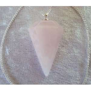 6 sided Rose Quartz Pendulum Divination Dowsing: Everything Else